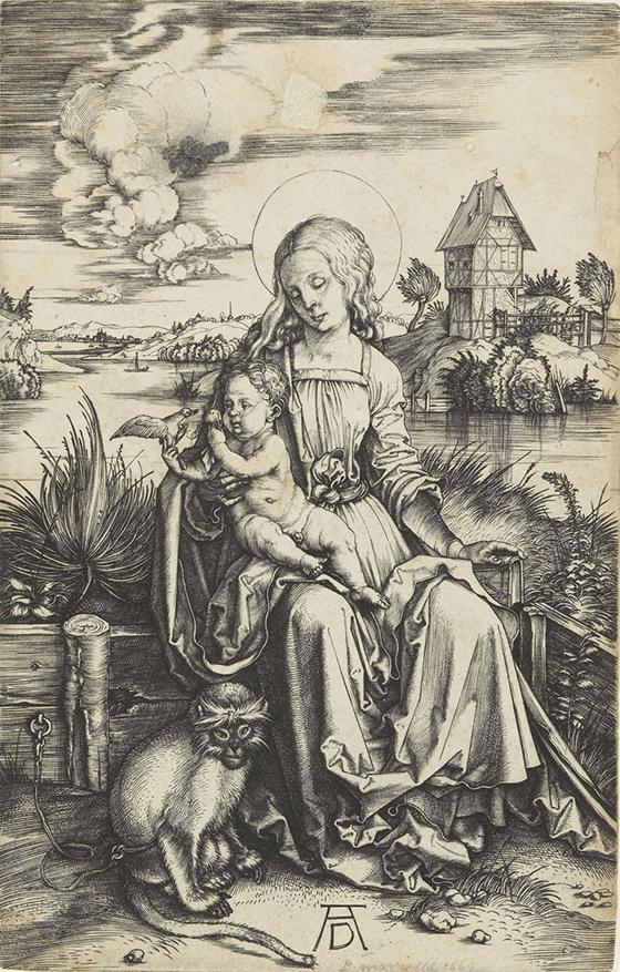 "Alberto Durero, ""Madonna del mono"", ca. 1498."