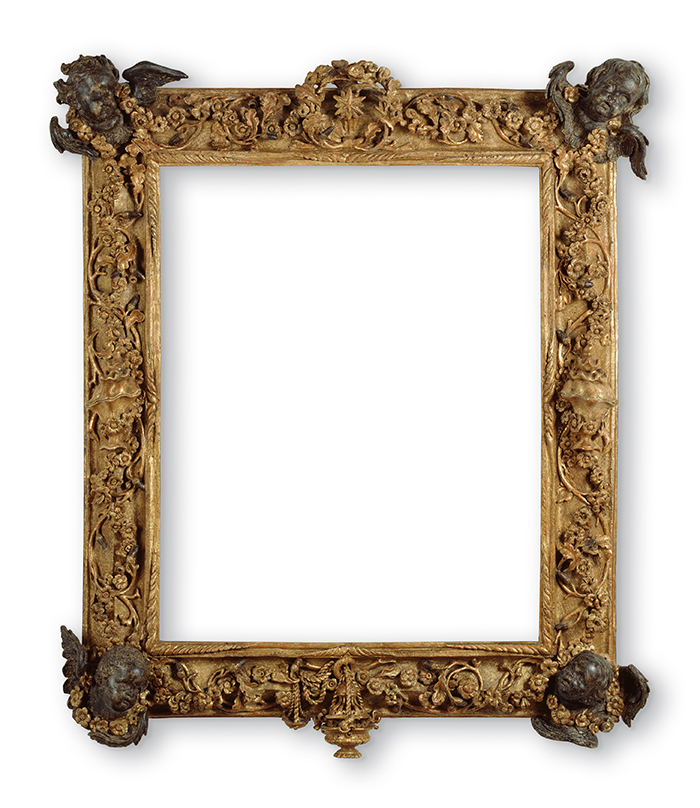 "Antonio Chicari, llamado ""Il Pisano"", marco realizado probablemente según un diseño de Gian Lorenzo Bernini, tercer cuarto del siglo XVII."