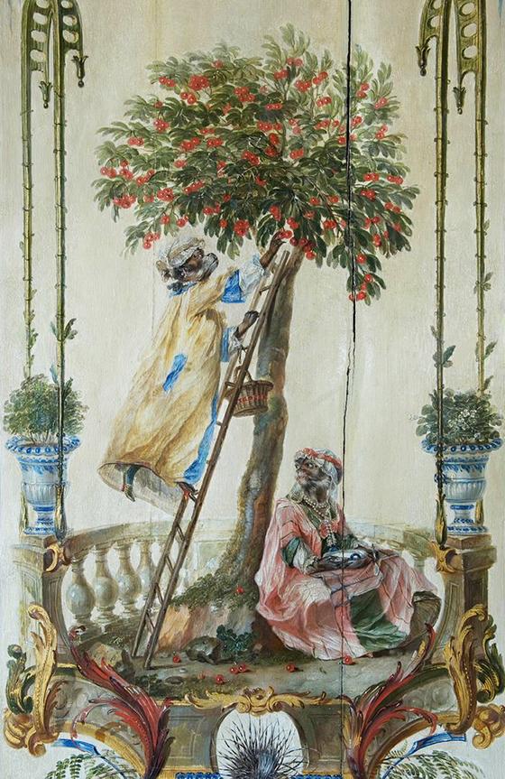 """Christophe Huet, decoración de la """"Petite Singerie"""", 1735-1740,."""