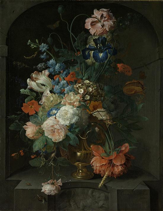"Coenraet Roepel, ""Naturaleza muerta con flores"", 1721."