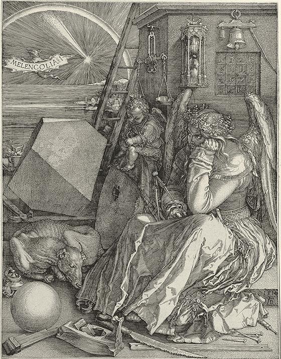 """Alberto Durero, """"Melancolía"""", 1514."""