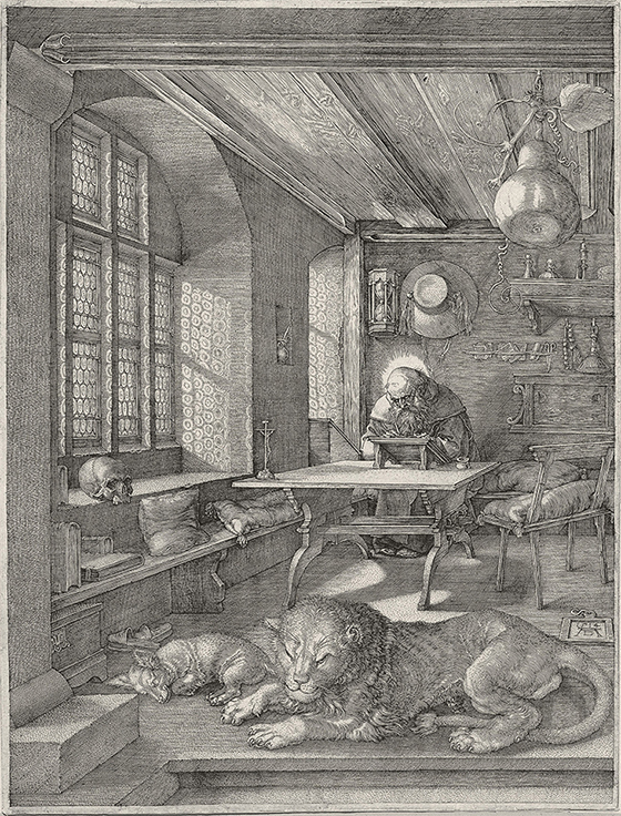 """Alberto Durero, """"San Jerónimo en su estudio"""", 1514."""