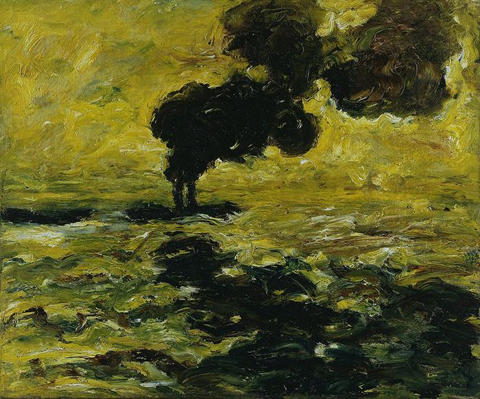 """Emil Nolde, """"Remolcador en el río Elba"""", 1910."""