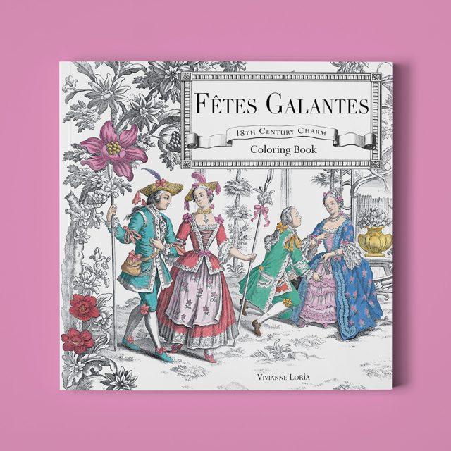 Fêtes Galantes – Libro para colorear