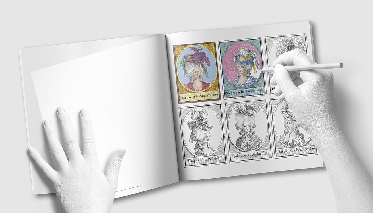 Fêtes Galantes : 18th Century Charm - libro para colorear - by MAGOT Books