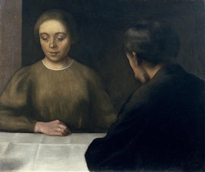"Vilhelm Hammershøi, ""Retrato doble"", 1898."