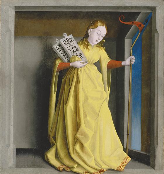 """Konrad Witz, """"La Sinagoga"""", ca. 1435, pintura sobre tabla."""