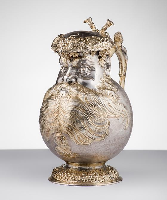 """Melchior Gelb, """"jarra de hombre barbudo"""" , ca. 1625."""