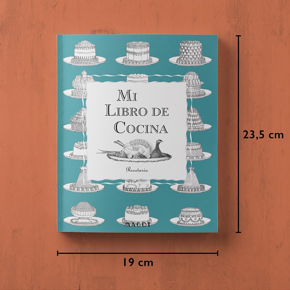 Mi Libro de Cocina : Recetario organizado por secciones - by MAGOT Books - tamaño del libro