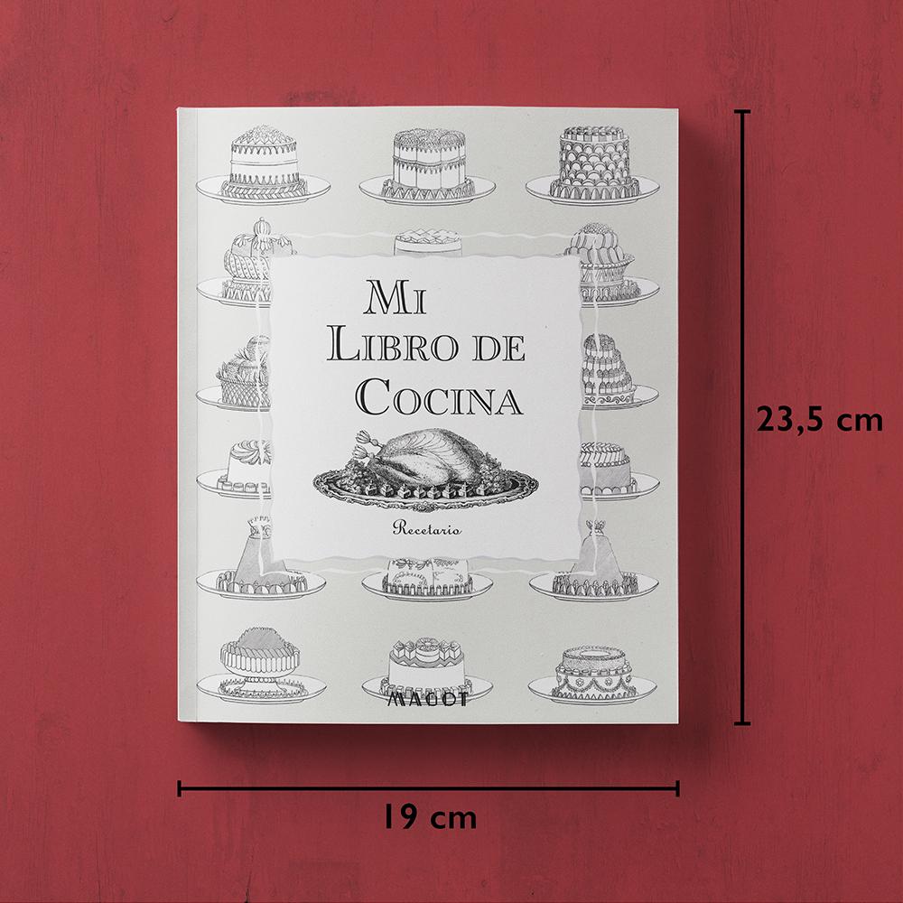 Mi Libro de Cocina : Recetario con secciones personalizables - by MAGOT Books - tamaño del libro