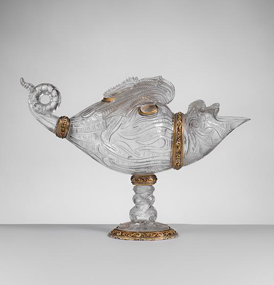 Recipiente en forma de monstruo marino, ca. 1600.