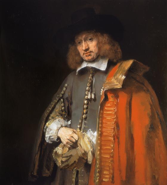 Rembrandt Harmensz van Rijn, Retrato de Jan Six, 1654, óleo sobre lienzo.