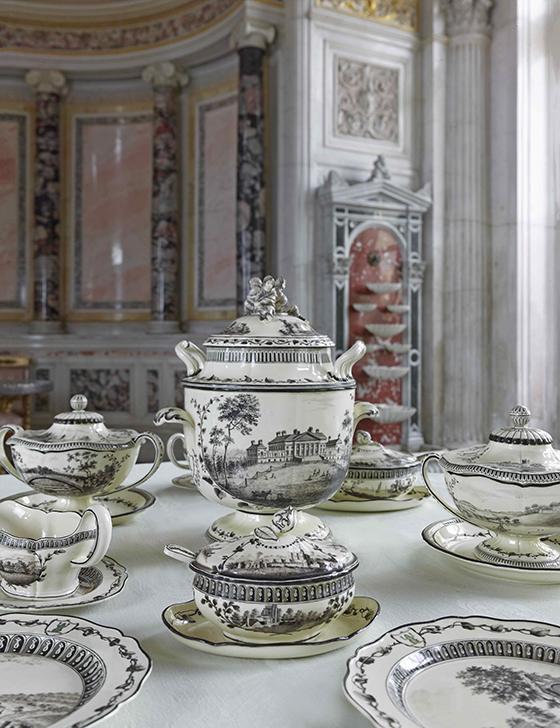 """""""Servicio de la rana verde"""". San Petersburgo, Museo del Ermitage."""