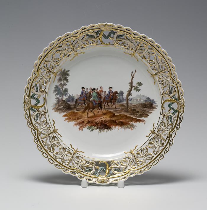 Real Manufactura de Porcelana de Berlín, plato, 1770-1772.