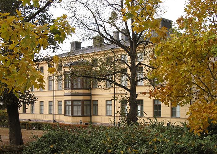 Fachada del Sinebrychoffin Taidemuseo.
