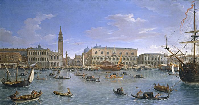 """Gaspar van Wittel, llamado """"Gaspare Vanvitelli"""", """"Vista de Venecia desde San Giorgio"""", 1697."""