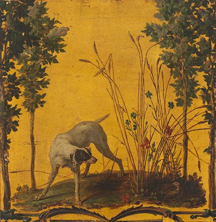 Vernis Martin: fragmento de decoración de una berlina o de un clavecín
